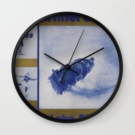 Winter Olympics Lake Placid Vintage Travel Poster Wall Clock