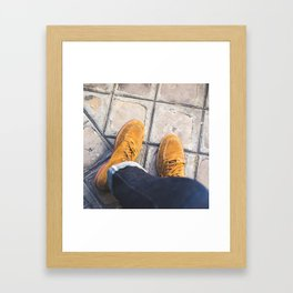 Boots + Jeans Framed Art Print