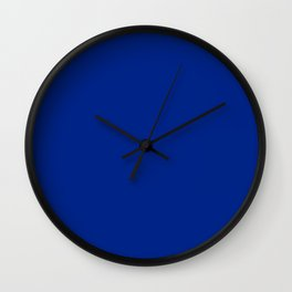 Resolution blue - solid color Wall Clock