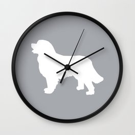 Bernese Mountain Dog silhouette grey and white minimal dog gifts Wall Clock