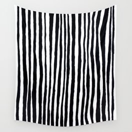 Black Stripes Wall Tapestry
