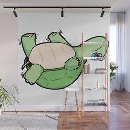 Little Turtle Down! Help Him! Wall Mural