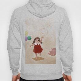 girl run with three balloons Hoody