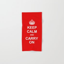 Keep Calm and Carry On Hand & Bath Towel