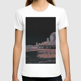 Stained Glass Santa Monica Pier T-shirt