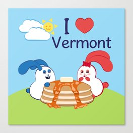 Ernest and Coraline | I love Vermont Canvas Print
