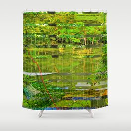Landscape of My Heart (segment 3) Shower Curtain
