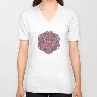 sacred geometry V-neck T-shirts featuring Sacred Geometry Kaleidoscope Mandala  by Jam.