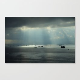 Ships at sea in Istanbul Canvas Print