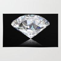 diamonds Area & Throw Rugs featuring diamonds by Kazuma Shimizu