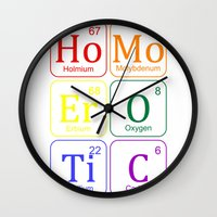 erotic Wall Clocks featuring HOMO EROTIC  by SLANTEDmind.com