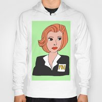 dana scully Hoodies featuring Dana Scully The X Files Fanart by peppernights