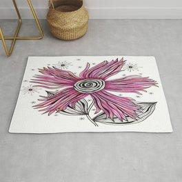 My Funky Valenting - Zentangle Pink Flower Rug