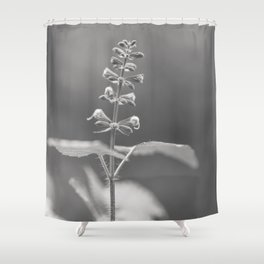 Spring & Hope - black and white floral Shower Curtain
