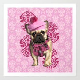Dog Chic Art Print