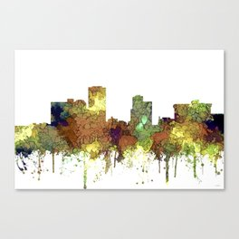 Little Rock, Arkansas Skyline - Safari Buff Canvas Print