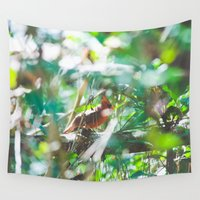cardinal Wall Tapestries featuring Cardinal by Kristin H. Rommel