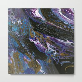Space Travel (Original Abstract Acrylic Painting) Metal Print