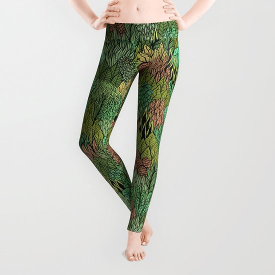April Leaves Leggings