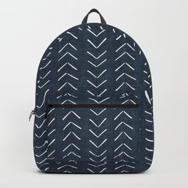Mud Cloth Big Arrows in Navy Backpack