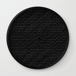 binary code pattern Wall Clock