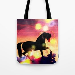 Sunset  Stallion Tote Bag