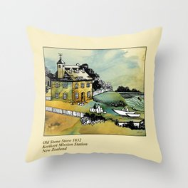 Stone Store, Kerikeri Throw Pillow