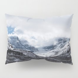 Jasper Glaciers | Landscape Photography | Mountains and Clouds | Skyscape Pillow Sham