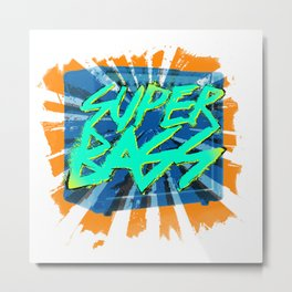 SUPERBASS Metal Print