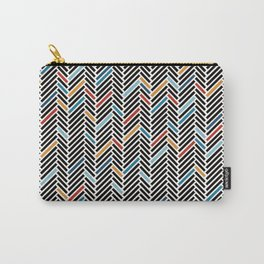 Herringbone Blue and Black #3 Carry-All Pouch