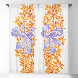 Iris and Butterfly Weeds Blackout Curtain