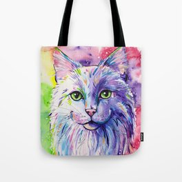 Not so white cat Tote Bag