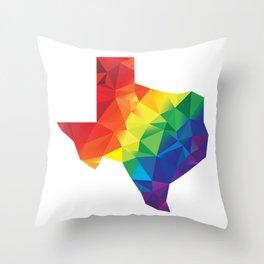 Geometric Pride Texas Throw Pillow