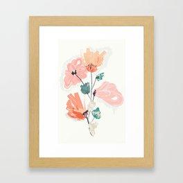 Wild Beauty Saffron Framed Art Print