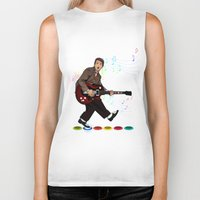 marty mcfly Biker Tanks featuring Marty McFly plays Guitar Hero by Akyanyme