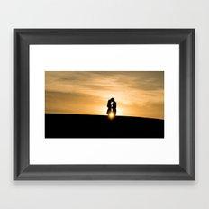 down the horizons Framed Art Print