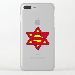 Super Jew Superman Clear iPhone Case