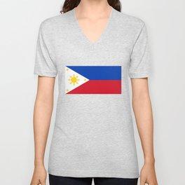Philippines national flag Unisex V-Neck