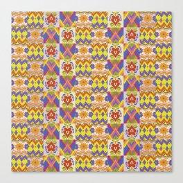 Ikat Pattern Canvas Print