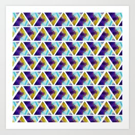 Marbled triangels Art Print