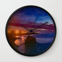 The Elegance of Sunset Cliffs Wall Clock