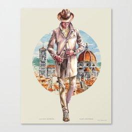 Luciano Barbera x Sunflowerman, Pitti 92 Canvas Print