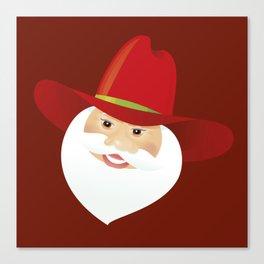 Santa Claus. Cowboy. Canvas Print