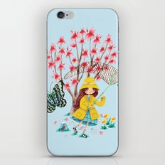 Butterfly Catcher iPhone & iPod Skin