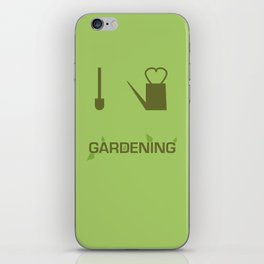 I heart Gardening iPhone Skin