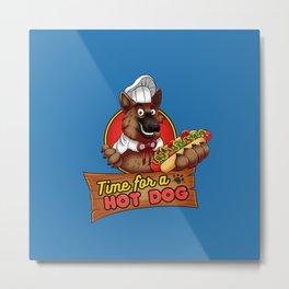 Hot Dog Time! Metal Print