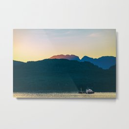 Alaska wildlife sunset landscape Metal Print