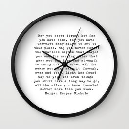 Morgan Harper Nichols Wall Clock