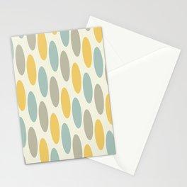 Mid Century Modern Geometric oval Pattern 724 Stationery Cards