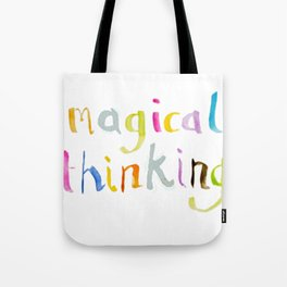 magical thinking watercolor Tote Bag